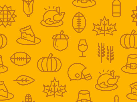 Seamless Thanksgiving Autumn Background - gettyimageskorea