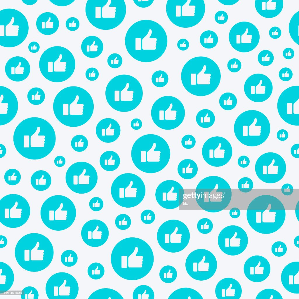 Seamless Thumbs Up Background : stock illustration