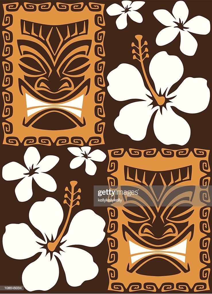 Seamless Tiki Tiles
