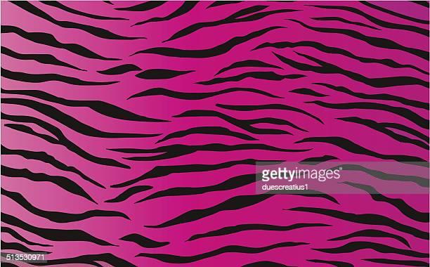 seamless tiling tiger animal print patterns - animal markings stock illustrations