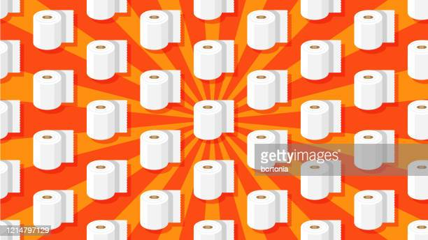 seamless toilet paper pattern - funny toilet paper stock illustrations