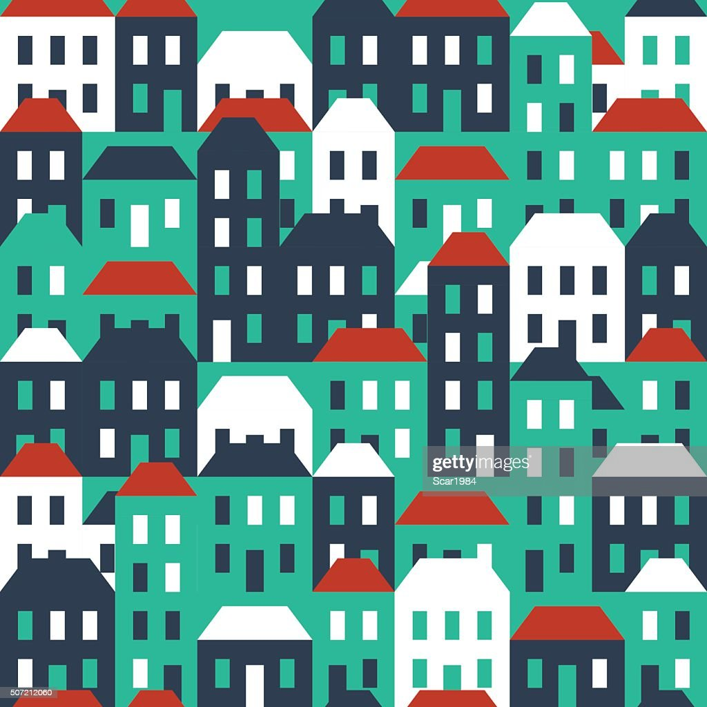 Seamless town pattern