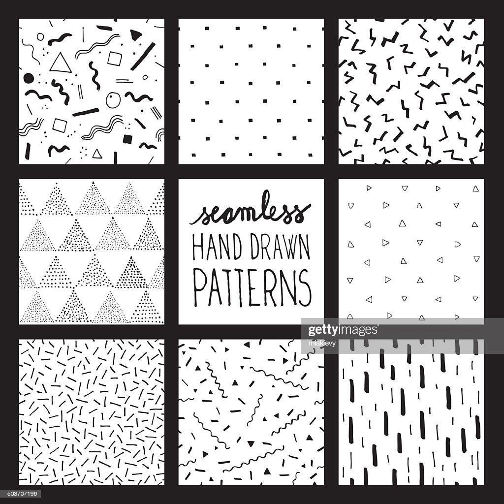 Seamless trendy patterns : stock vector