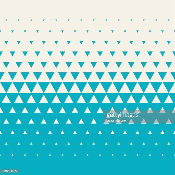 seamless triangle halftone - triangle shape stock illustrations