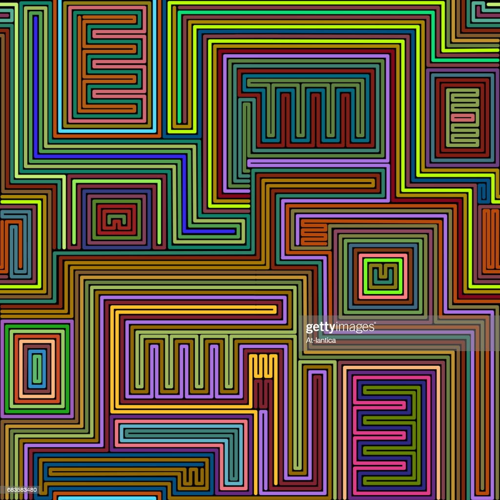 Seamless tribal abstract stripped geometric background