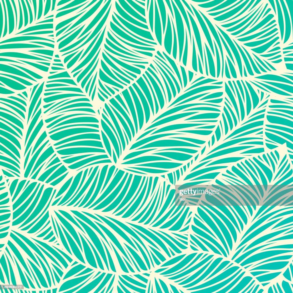 Fundo de folha Tropical sem emenda : Ilustração