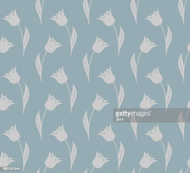 seamless tulip background - plant bulb stock illustrations