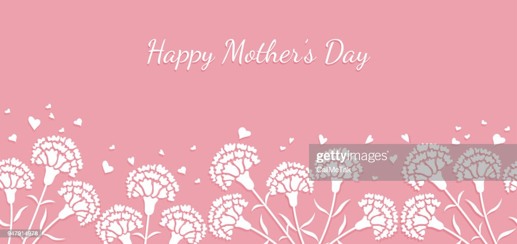 Seamless vector background illustration with text space for Mother's Day, Valentine's Day, bridal, etc.