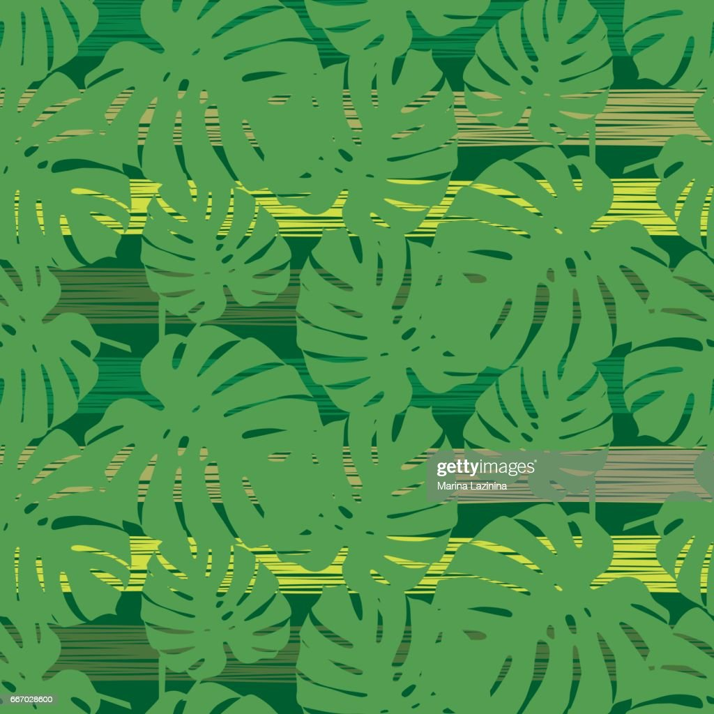 Seamless vector background with decorative leaves.