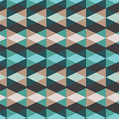 seamless vector blue multicolor mosaic triangles