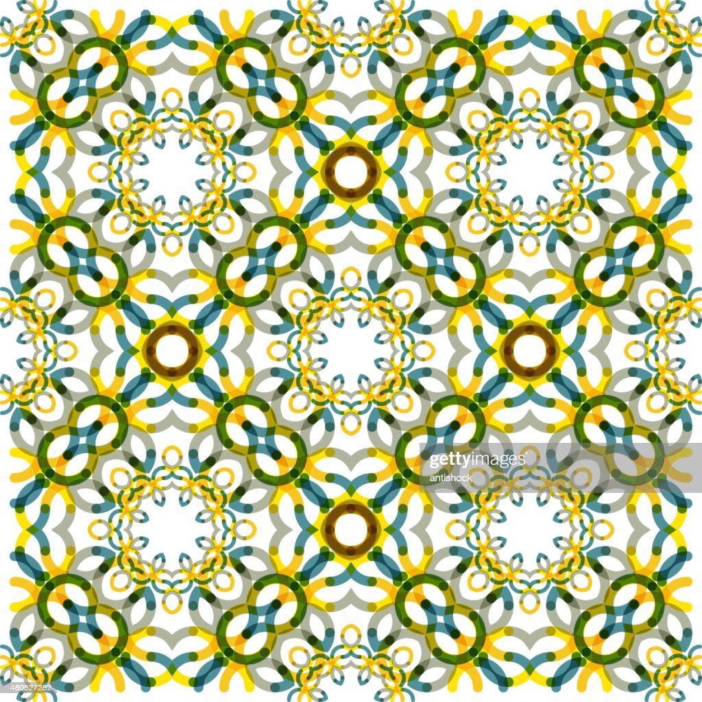 Seamless vector geometric abstract pattern. Creative round shapes made of : Vector Art