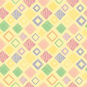 Seamless vector geometrical pattern with rhombus, squares. endless background with hand drawn textured geometric figures. Pastel Graphic illustration Template for wrapping, web backgrounds, wallpaper