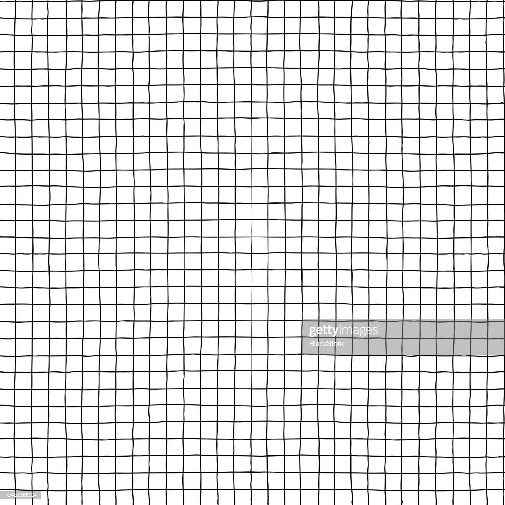 Seamless vector hand drawn minimalistic squared pattern