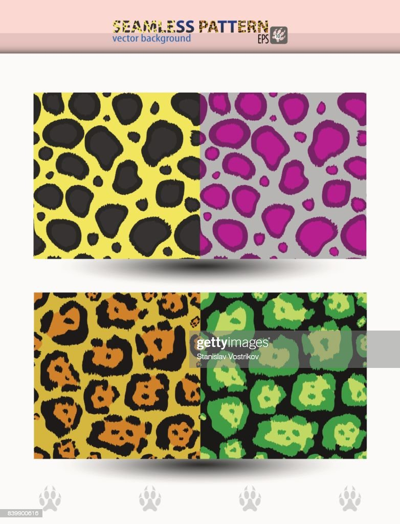Seamless vector pattern of cheetah and jaguar for backgrounds and wraps