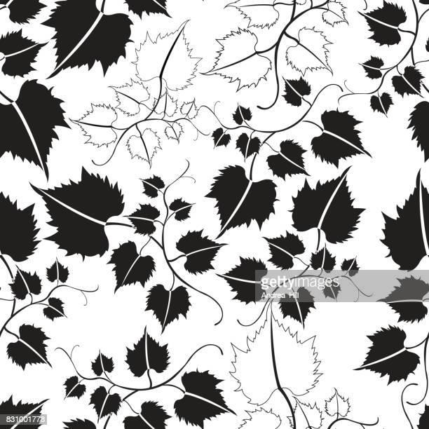 Vector patrón de hojas de Parra