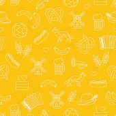 Seamless vector pattern of the Germanic icons