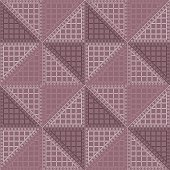 Seamless vector pattern. Symmetrical geometric background with violet rhombus. Decorative repeating ornament.