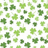 Seamless vector shamrock background for St. Patricks Day