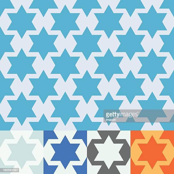 Seamless vector Star of David design.