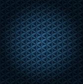 Seamless vector volumetric dark blue pattern with vignette. Glossy luxury dark blue polygonal tiles modern background.