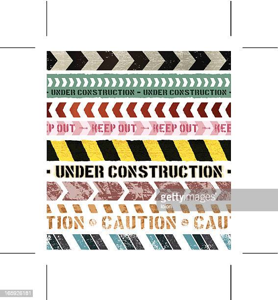seamless vintage construction banners