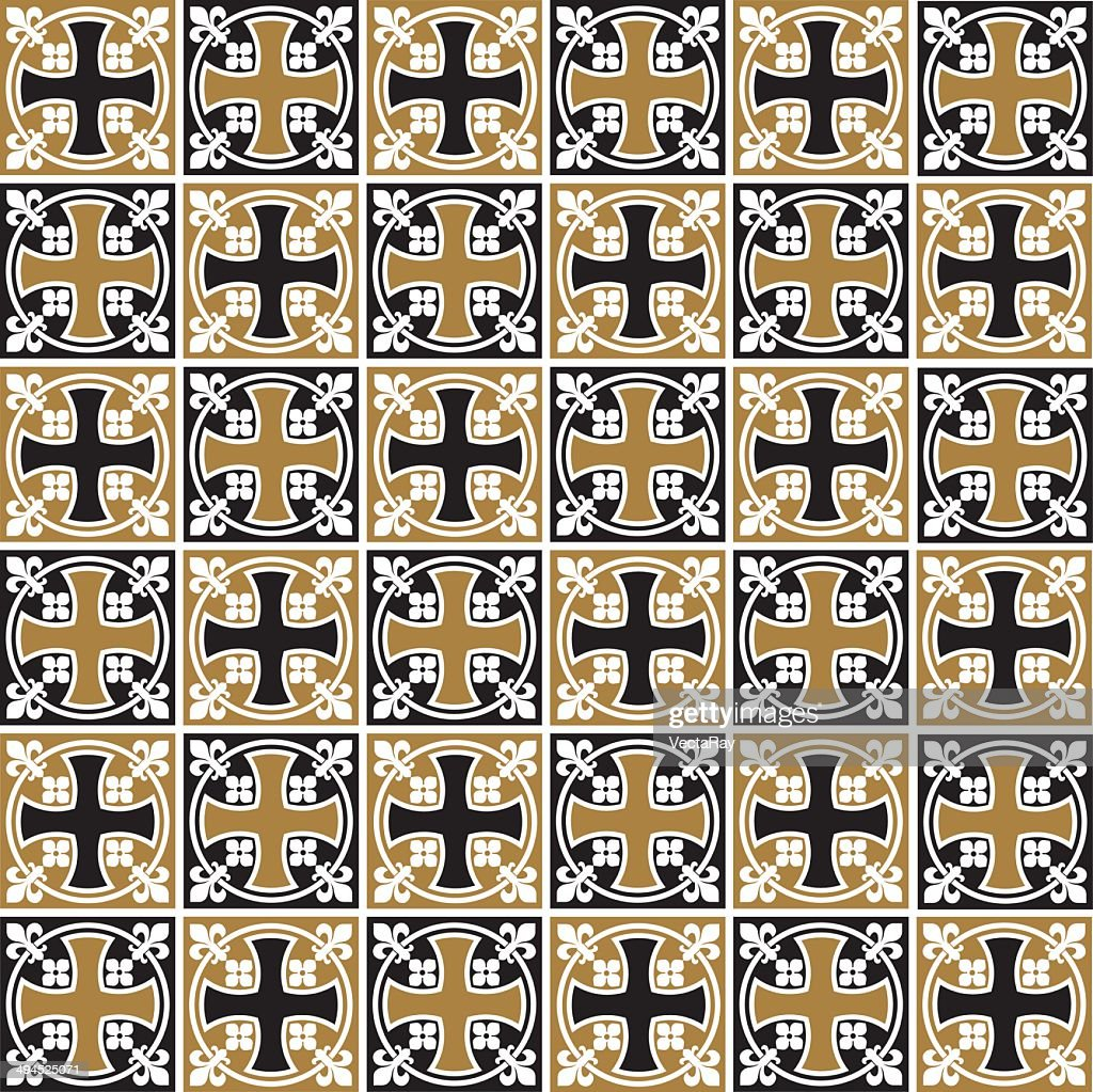 Seamless Vintage Gothic Tile Pattern Texture Background