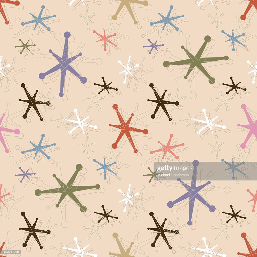 Seamless Vintage Jacks Pattern Background