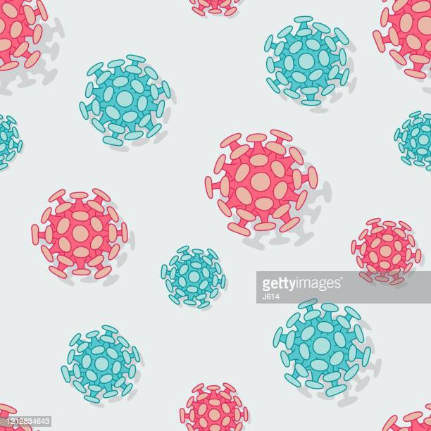 seamless virus pattern - hand sanitizer stock illustrations