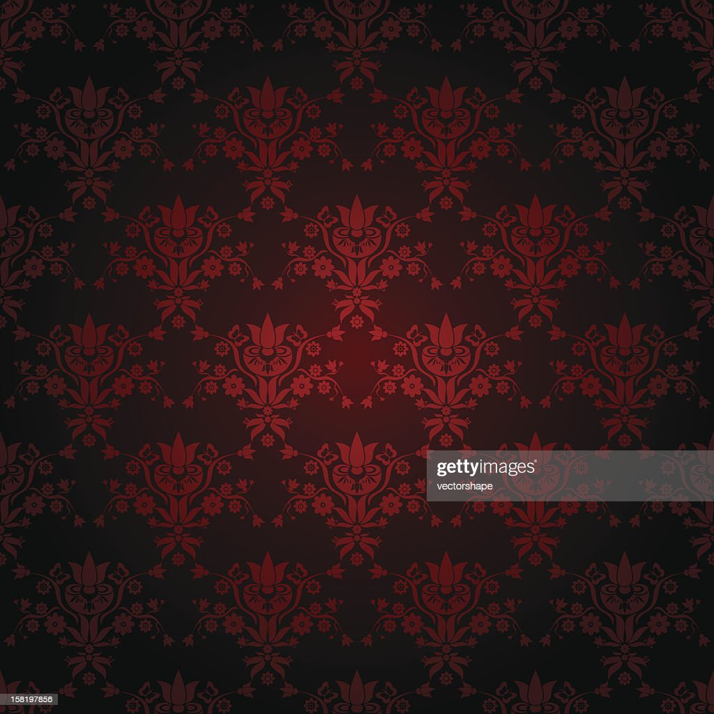 Seamless wallpaper in dark red