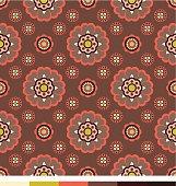 Seamless wallpaper patterns - floral series