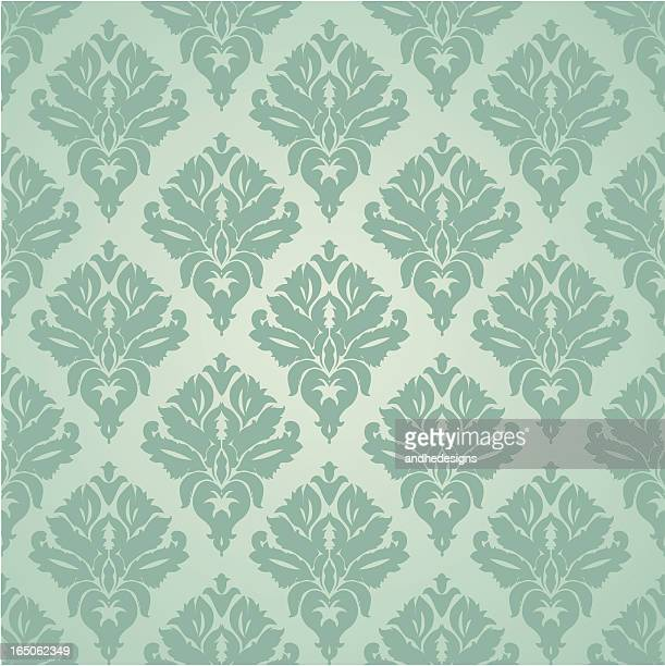 seamless wallpaper - brocade stock illustrations