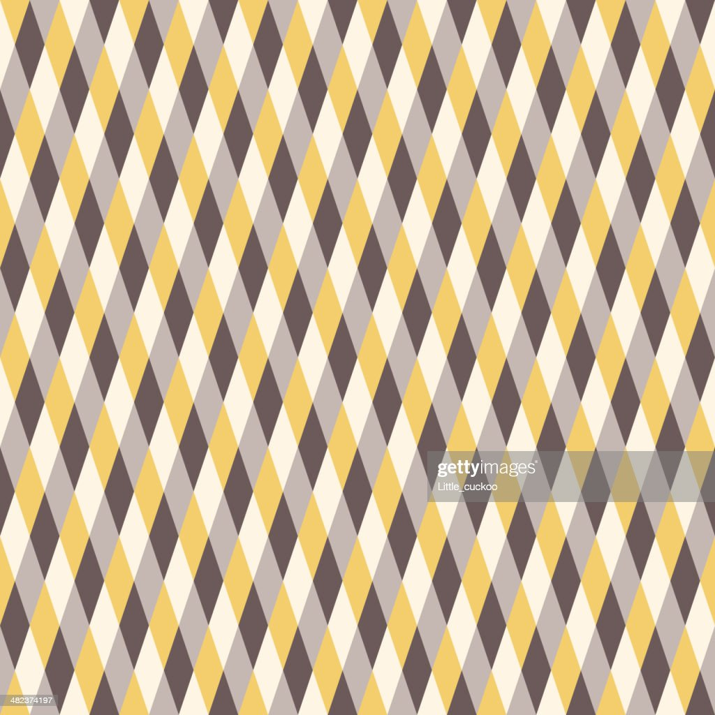Seamless Warm Color Pattern. Rhombus Background