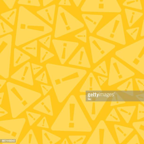 seamless warning sign background - exclamation mark stock illustrations