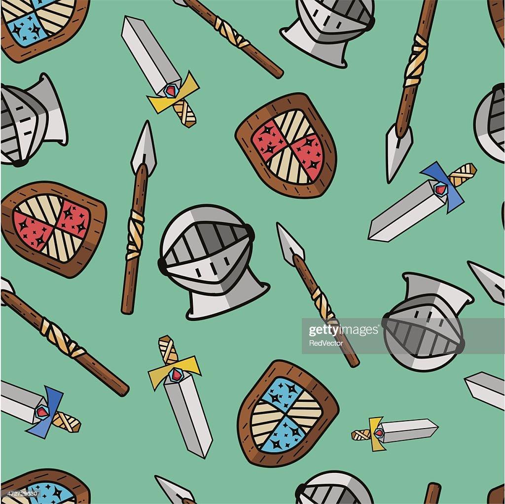 Seamless warrior pattern.