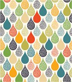 seamless water drops pattern