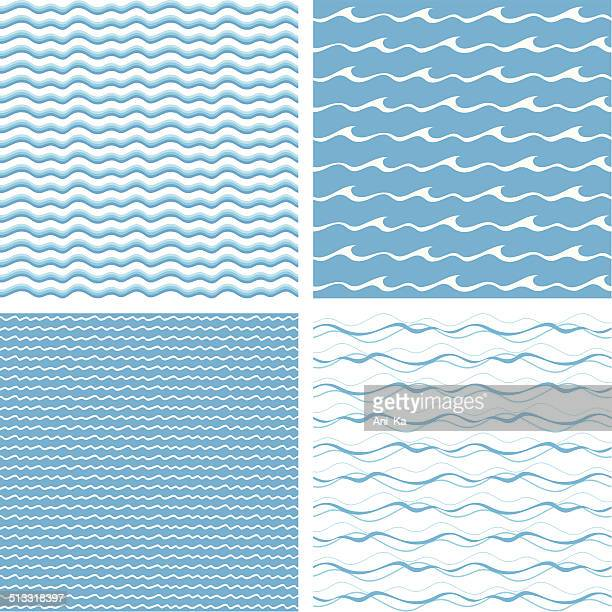 seamless waves - wave stock illustrations