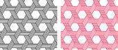 Seamless Weave Hexagon pattern in linear style art