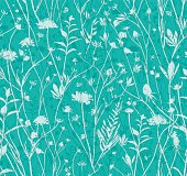 Seamless wildflowers pattern.
