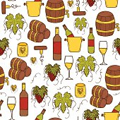 Seamless wine background
