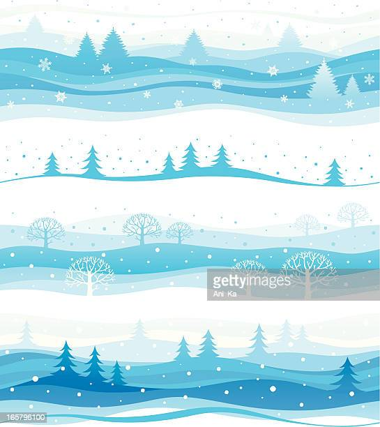 Seamless winter backgrounds