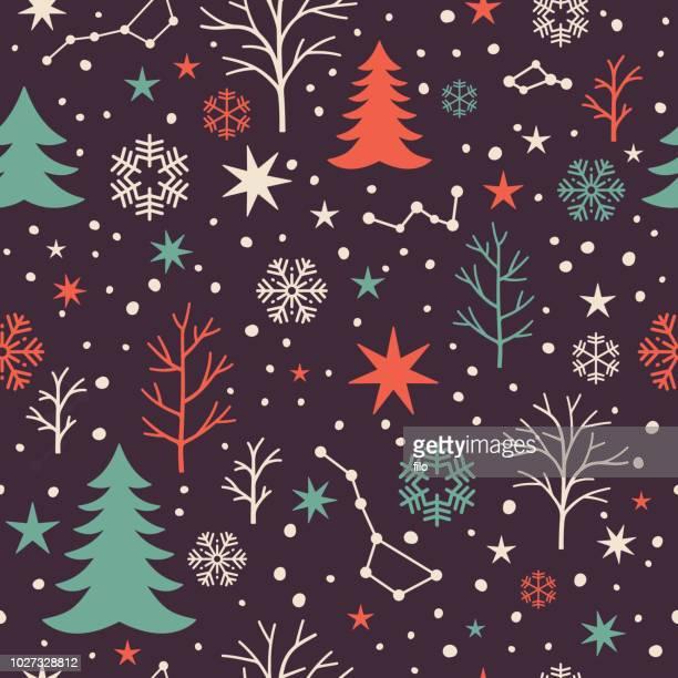 seamless winter pattern - star field stock illustrations