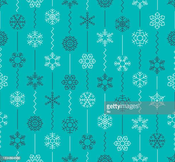 seamless winter snow background pattern - winter sports event stock illustrations