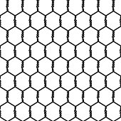 Seamless Wire Mesh. Vector