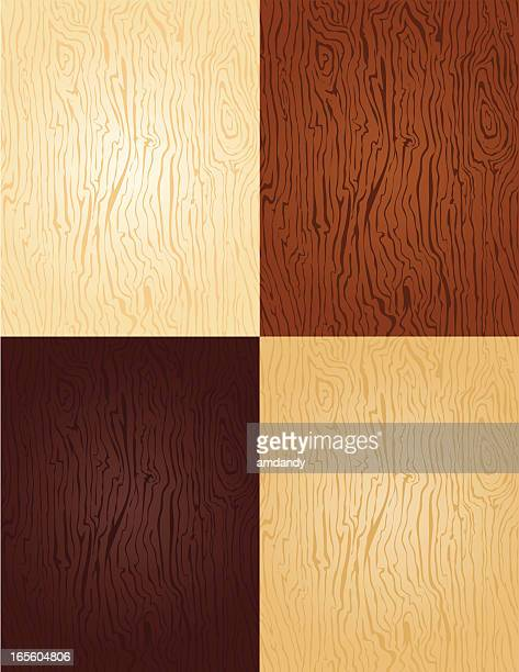 seamless - wood swatches 4 colors of stain - floorboard stock illustrations, clip art, cartoons, & icons