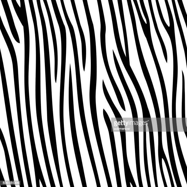 seamless zebra skin pattern - zebra stock illustrations