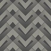 Seamless Zig Zag Pattern. Abstract Aztec Background. Vector Regular Texture