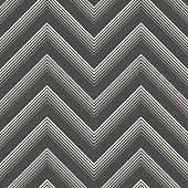 Seamless Zig Zag Pattern. Abstract Black and White Background
