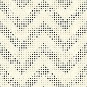 Seamless Zig Zag Pattern. Abstract Monochrome Dots Background