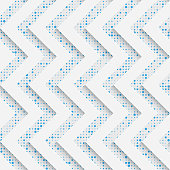 Seamless Zig Zag Pattern. White and Blue Wrapping Background