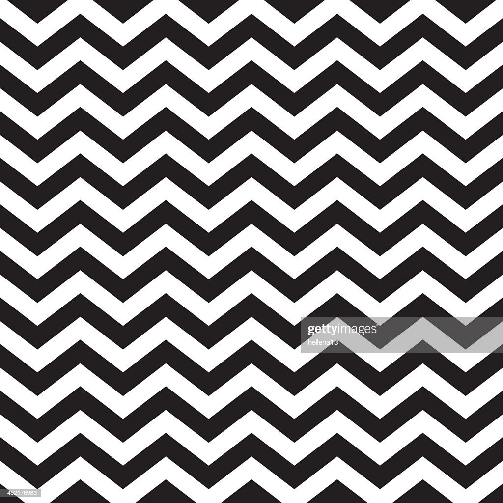 Seamless zigzag chevron pattern in black and white